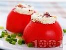Рецепта Салата от пълнени домати с козе сирене